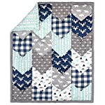 Woodland-Trail-6-Piece-Forest-Animal-Theme-Patchwork-Baby-Boy-Crib-Bedding-Set-Navy-Blue-Plaid