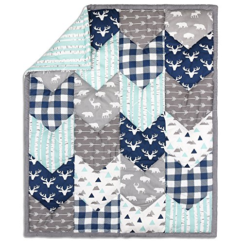(Woodland Trail Chevron Patchwork Quilt by The Peanut Shell)