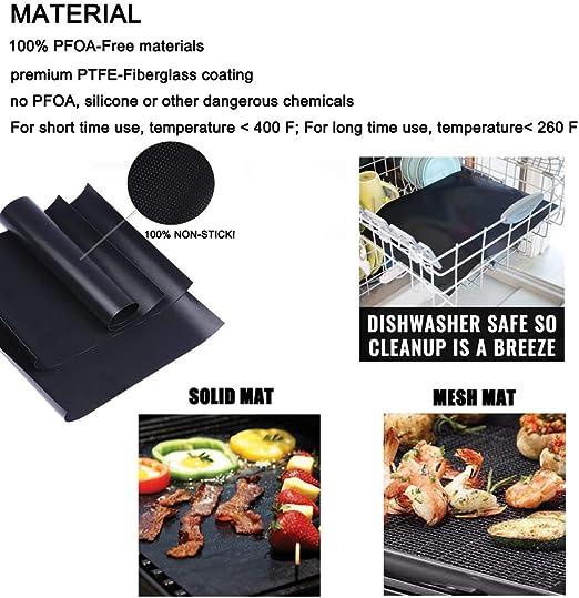 2x Reusable BBQ Grill Black Mat Heat Resistant Non Stick Outdoor H6U7