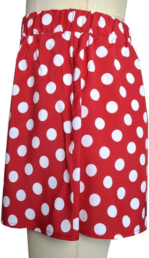 FAMILIZO/_Faldas Cortas Mujer Verano Faldas Tubo De Moda Faldas Tul Mujer Faldas Altas De Cintura Faldas Acampanadas De Mujer Mini Faldas Lunares