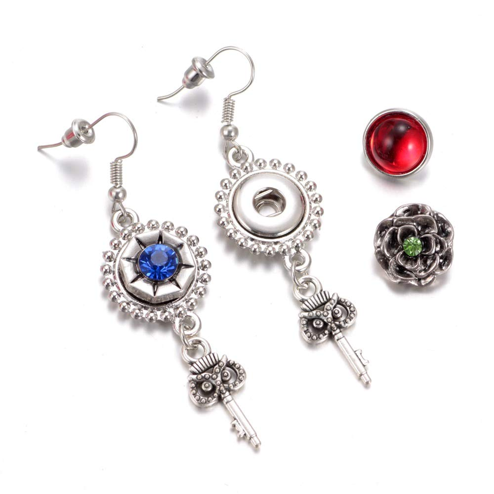 30pcs RoyalBeier Mixed Lot Multi Color Rhinestone Metal Button Charms 12mm Snap Button For Snap Jewelry HM008