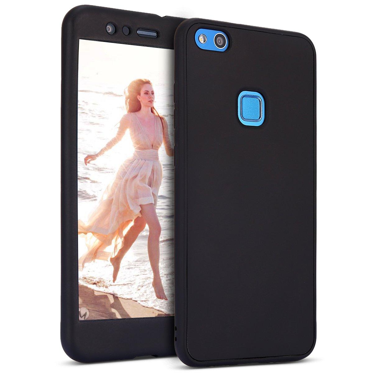 Ukayfe Custodia Huawei P10 Lite,Cover Huawei P10 Lite 360 Gradi,Full Body 2 in 1 Cover in Silicone TPU Cover in Gomma Flessibile Protettiva Cover Custodia per Huawei P10 Lite.Oro
