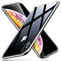 ESR iPhone XS MAX Hülle, Hochwertig Gehärtetes Glas Handyhülle TPU Rahmen [Stoßfest] [Kratzfest] Crystal Clear Durchsichtige Handy Schutzhülle Kabelloses Laden Unterstützen Glashülle (6,5 zoll) - Klar