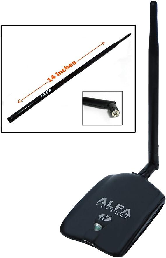 Amazon Com Alfa Awus036nha High Gain Wireless B G N Usb Adaptor Long Rang Wi Fi Network Adapter With 5dbi And 9dbi Antenna For Wardriving Range Extension Windows 7 Xp Vista 64 Bit 128 Bit Atheros