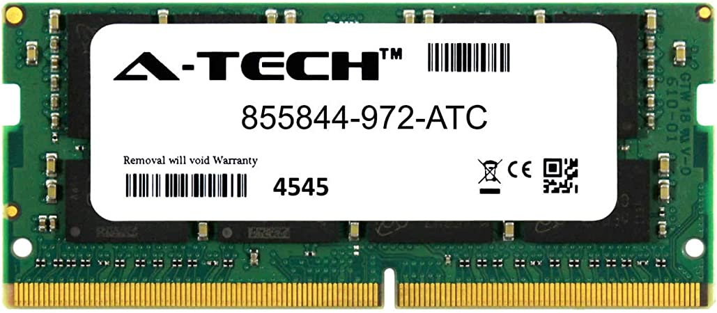 DDR4 2400MHz PC4-19200 Non ECC SO-DIMM 2rx8 1.2v 855844-972-ATC Single Laptop /& Notebook Memory Ram Stick A-Tech 16GB Replacement for HP 855844-972