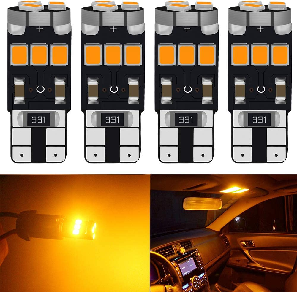 10//20PCS T10 Canbus Led Bulbs Interior Lights White Blue Red Yellow 192 921 5630