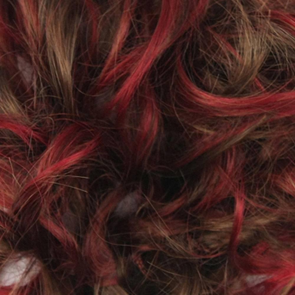 PrettyWit Hair Bun Updo Extensiones Hair Chignons Piece Wig Scrunchie Scrunchie Hairpiece Ribbon Ponytail Accesorios de novia para mujeres (Burgundy & Brown ...