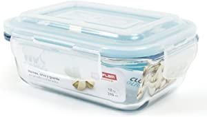 Neoflam CLOC Glass Food Storage Container w/ Airtight Lid, Clear, 12.5 oz