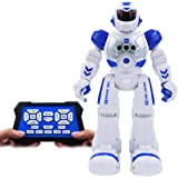 Conzy Remote Control Robot Smart RC Robot Toy for Kids Electronic Fighting Robocop with Gesture Sense Control, Singing Dancing Sliding Programmable for Boys Age 3-12