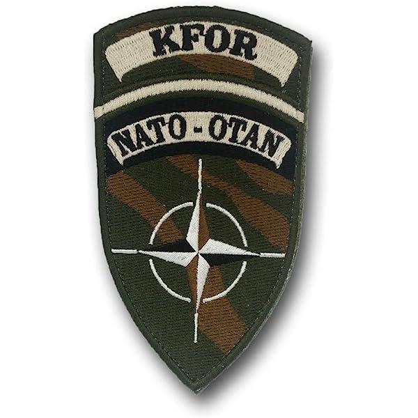 Copytec Parche KFOR NATO-OTAN Kosovo Force ejército Soldados Militares #25105: Amazon.es: Juguetes y juegos