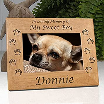 Personalized Dog Memorial Engraved Wood 4x6 Picture Frame with Choice of  Quotes (Quote 5)