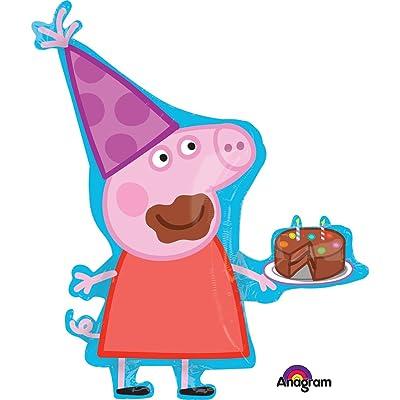 "Qualatex Peppa Pig 35"" Shape Balloon: Toys & Games"