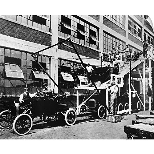 CANVAS ON DEMAND Model T Assembly line at The Ford Automobile Plant in Highland Park, Michigan, 1913
