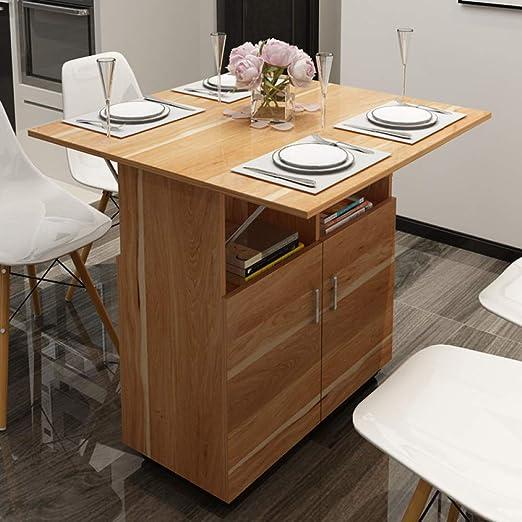 Mesa de comedor plegable, armario, mesa de comedor móvil ...