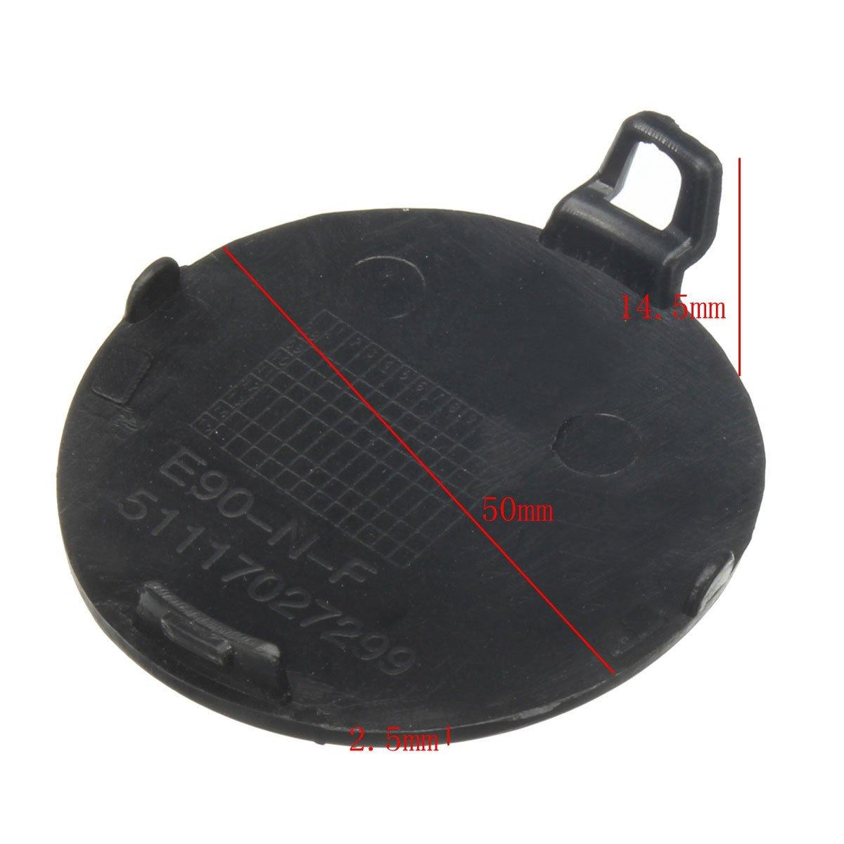 GOZAR Front Bumper Tow Hook Cover Cap Black For BMW E90 E91 316i 318i 320i 328i 330i