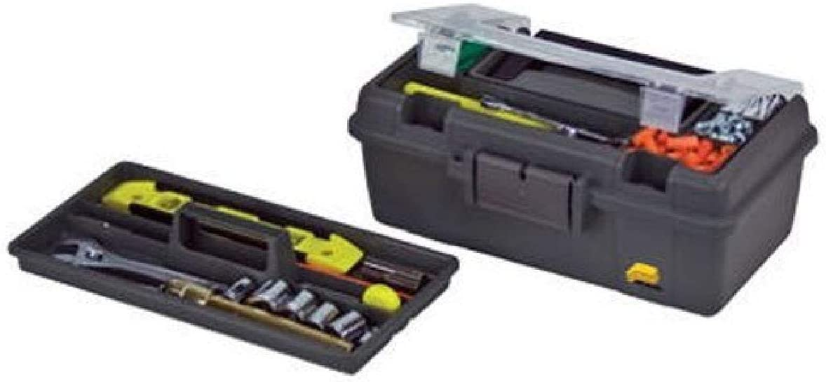 Plano Molding 114-002 13-Inch Compact Tool Box, Graphite Gray with Black Handle and Latches - Toolboxes -