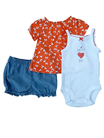 9eaf55ad8805 Amazon.com  Carter s Infant Girl Oh Happy Day Creeper Butterfly ...