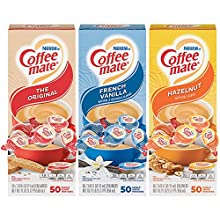Nestle Coffee mate Creamer Singles Variety Pack, Original, French Vanilla 150 Count (Pack of 3)