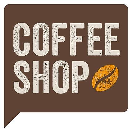 Pegatina de pared de cocina Cafetería con grano de café ...
