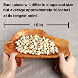 Cospring 10 inch Handmade Root Carving Platter,Solid Wood Bowls