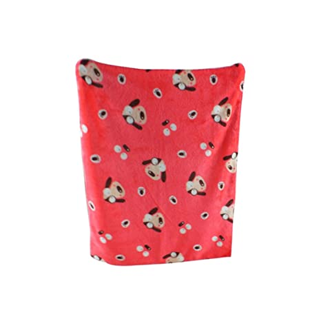 Zhaoke - Manta de franela suave para mascotas, cálida, para sofá, cama y