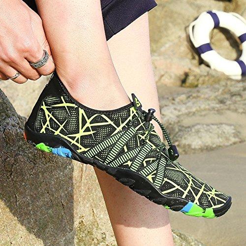 Rapide Pour Plage Aqua Dames Schage Adultes De Hommes Prime Surf Flat Barefoot t Chaussures Water green Sports Pool wfZEq