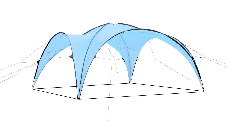 CampFeuer - Event Event Event Pavillon, Event Shelter, 4,5 x 4,5 m, hellblau 6c3c4b