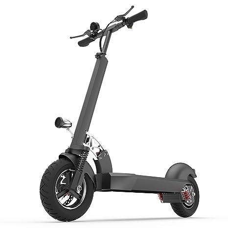 XULONG E202 Scooter eléctrico Adulto, Plegable 10 Pulgadas 1000 W Carga 200 kg Velocidad máxima 55 kph Rango de conducción 50-60 km Adecuado para la ...