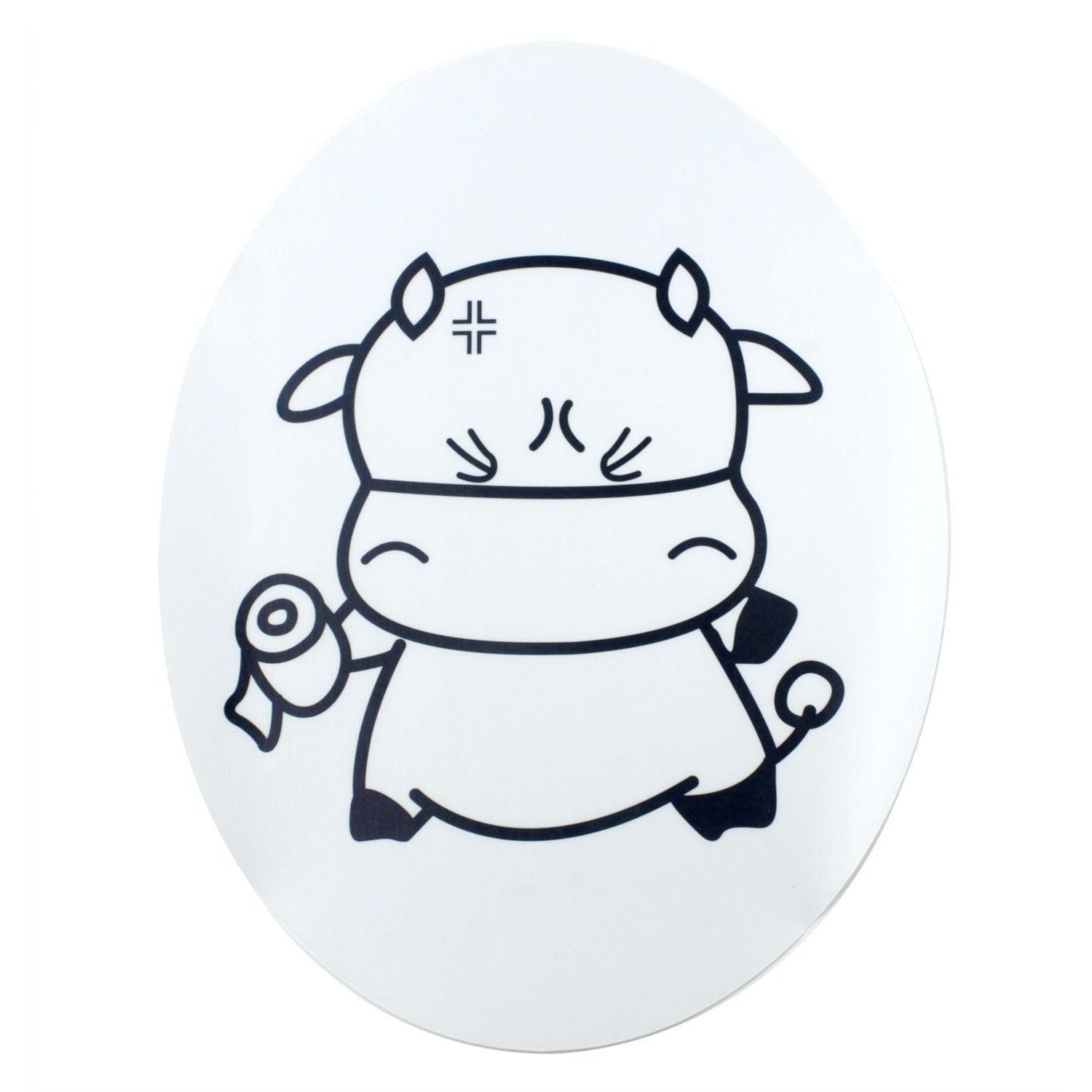 SODIAL(R) Sweet Cow Toilet Seat Cover Decal Sticker TRTA11A