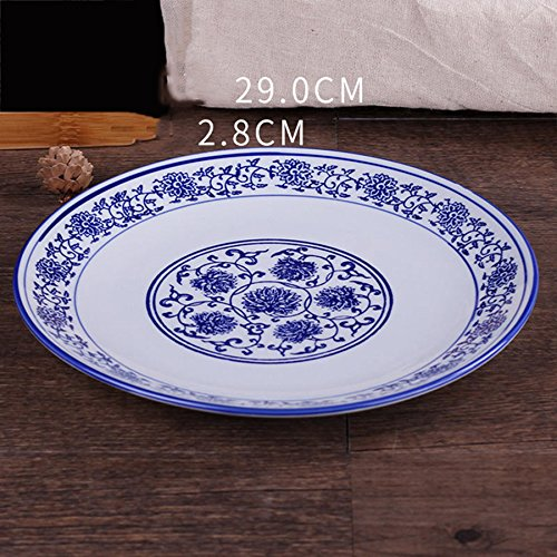 Blue Italian Square Salad Bowl - Hotel Dishes Blue And White Porcelain Plates Dish Plates Large Plates Deep Tray Shallow Tray Square Tray Soup Dish Steamed Fish Plate 1229Cm