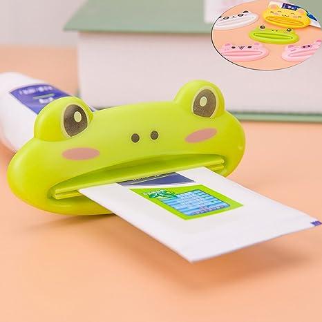 Zqmd Pasta de dientes de dibujos animados Exprimidor Limpieza Facial Gel Crema tubo de compresión del