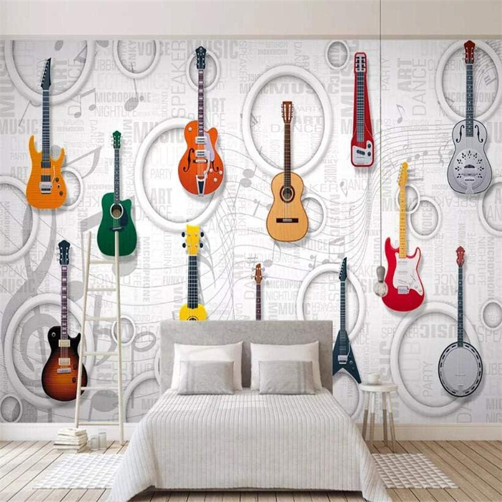 Murales de papel tapiz Guitarra equipo de música KTV bar 3D ...