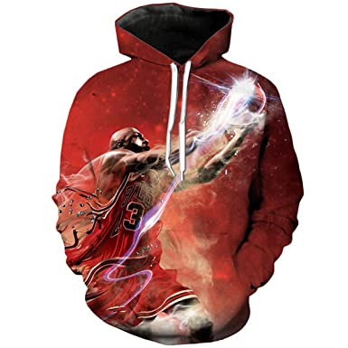 17c90d4e421 3D Jordan Hoodies Sweatshirt Crewneck Hoodie Casual Men Sportswear  Tracksuit at Amazon Men's Clothing store:
