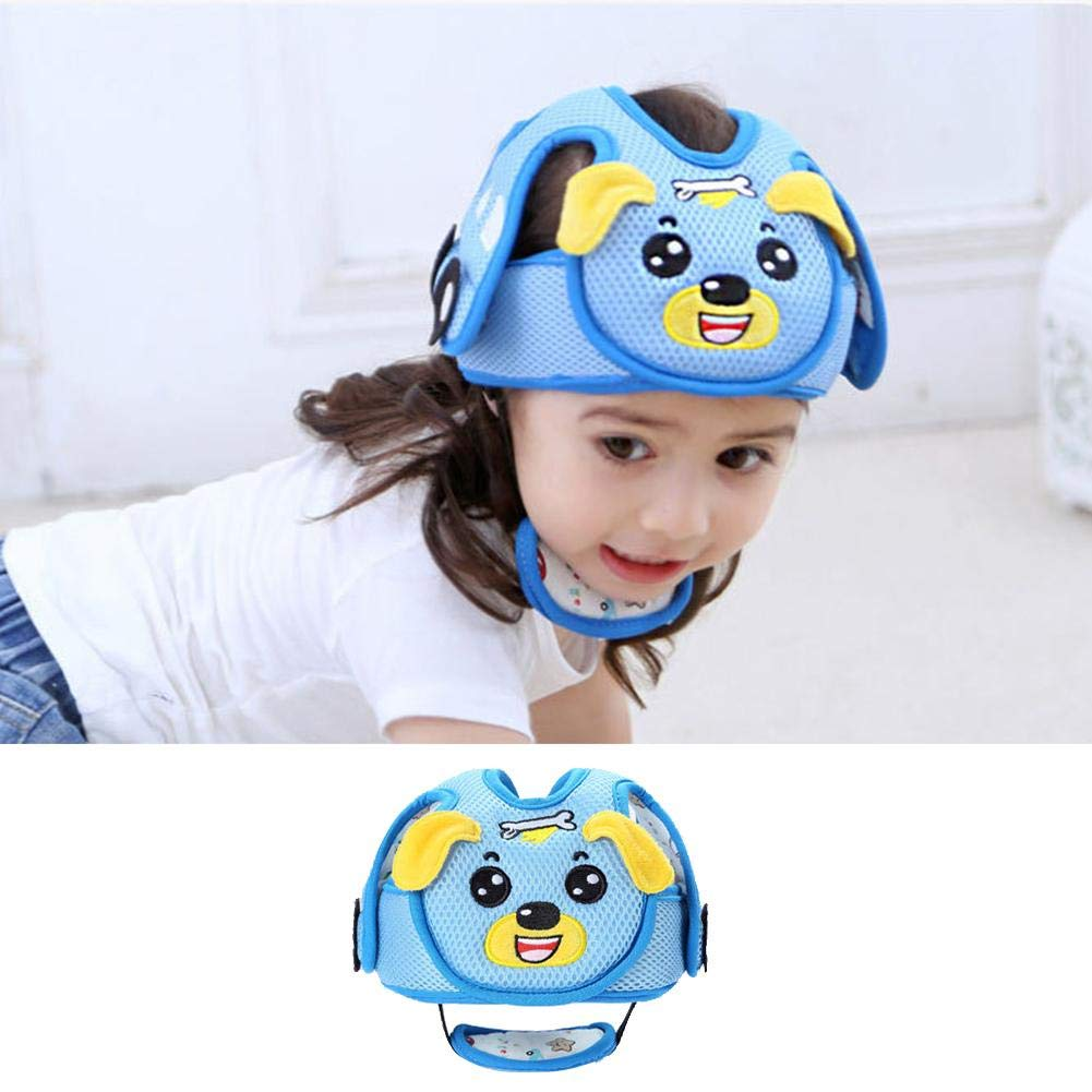 Baby Anti-Collision Adjustable Safety Helmet Children Headguard Infant Protective Harnesses Cap Head Protector//Blue