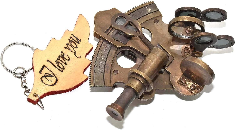Christmas Antique Navigation Marine Sextant Brass Telescope Astrolabe Gadget