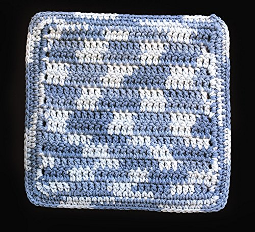 100% Cotton Hand Crocheted Pot Holder Hot Pad Doily Color: FADED -