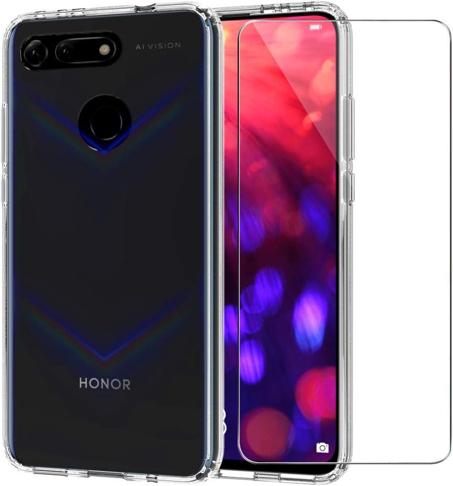 Huawei Honor View 20 / V20 Funda + Cristal Protector de Pantalla, Ultra Hybrid Anti-Rasguño Cover Carcasa Anti-Golpes Bumper Case [Funda + Vidrio Templado] para Honor View 20 / V20: Amazon.es: Electrónica