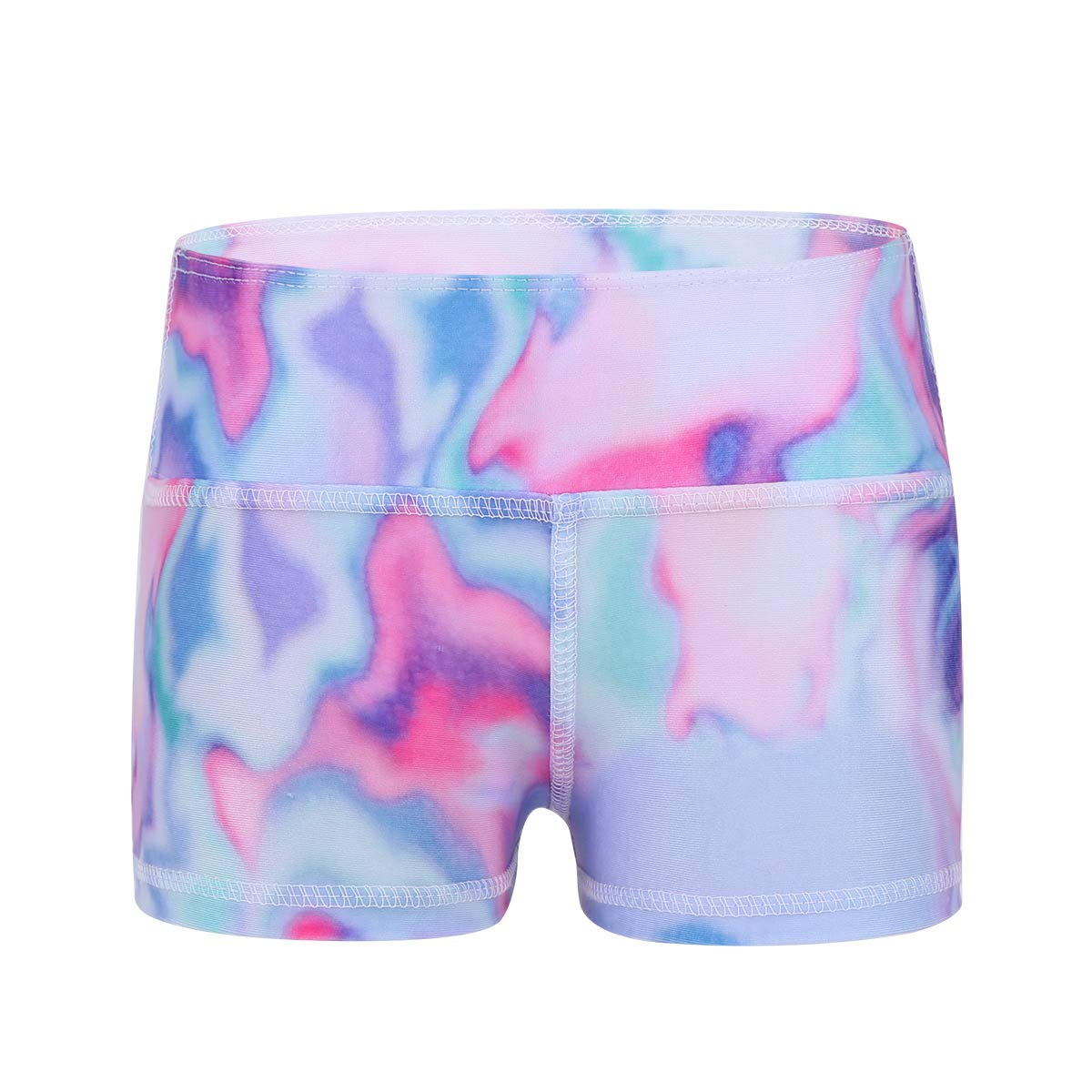 Freebily Kids Girls Boy-Cut High Waist Dance Shorts Sports Gymnastic Workout Bottoms Activewear
