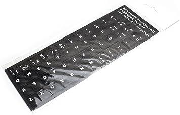 Adhesivo Teclado Español (Pegatinas de teclado fuerte, impermeable, cubierta teclado, pegatina de lenguaje, diseño de película