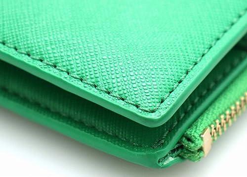 f2b1c1805dad Amazon | [トリー バーチ] TORY BURCH 2つ折財布 ロゴ レザー グリーン 緑 ゴールド金具 | TORY BURCH(トリーバーチ)  | 財布