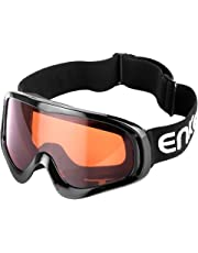 ENKEEO Motorcycle Goggles ATV Dirt Bike Off Road Racing MX Goggle Anti-Scratch Dust Proof Bendable Eyewear with Padded Soft Foam, Adjustable Strap for Adults' Cycling Motocross Skiing