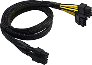 COMeap CPU 8 Pin Male to Dual 8 Pin(6+2) Male PCIe Power Adapter Cable for Dell PowerEdge T620 T630 T640 and NVIDIA Tesla GPU 21-inch(53cm)