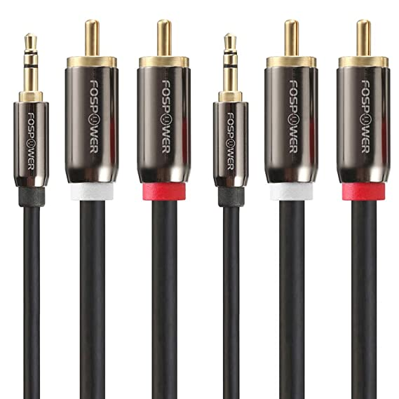 fospower 3.5  : 3.5mm to RCA Cable (6FT - 2 PACK), FosPower RCA Audio ...