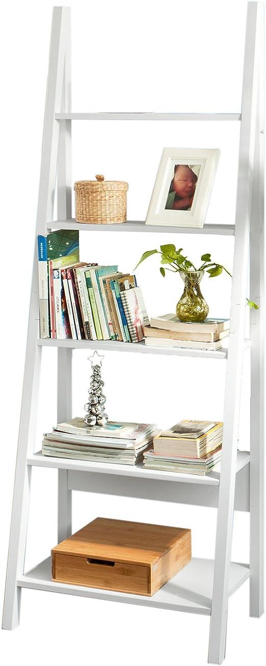 SoBuy® Estanterias librerias,Estanterias de diseño,Estantería de Esquina,Blanco,FRG61-W, ES: Amazon.es: Hogar