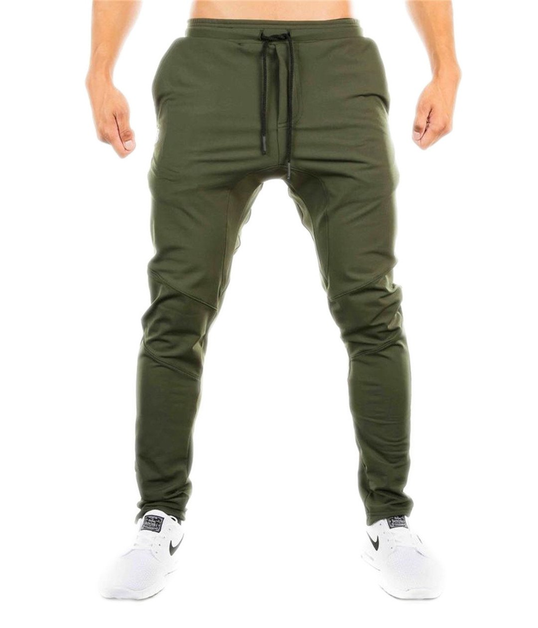 Bodybuilding Clothing Casual Fitness Sweatpants Army Green M