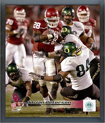 Adrian Peterson Framed - Adrian Peterson Oklahoma Sooners Action Photo (Size: 17