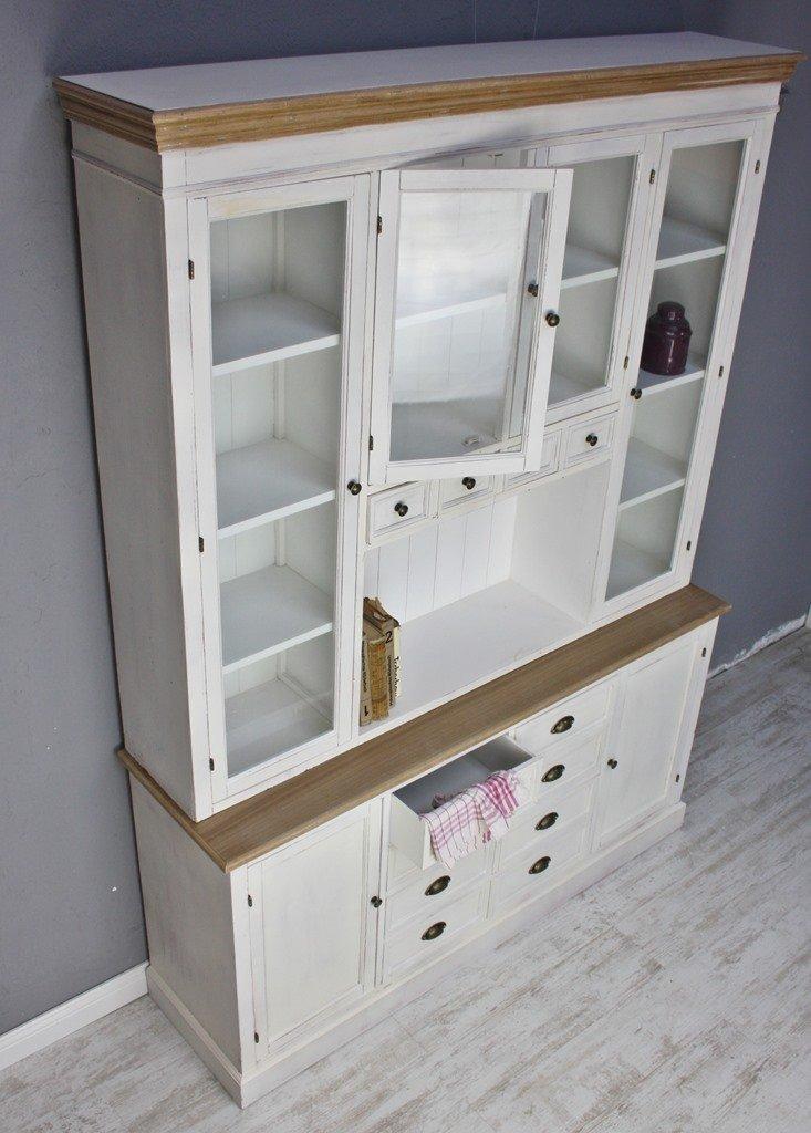 elbmöbel Küchenschrank aus Holz in weiß im Landhaus-Stil mit ...