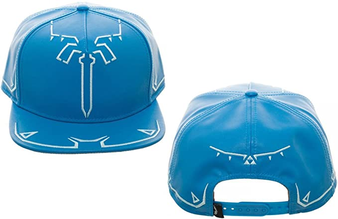 more photos fc99e 68245 Nintendo Zelda Breath of The Wild Tunic Synthetic Leather Snapback Standard  Blue