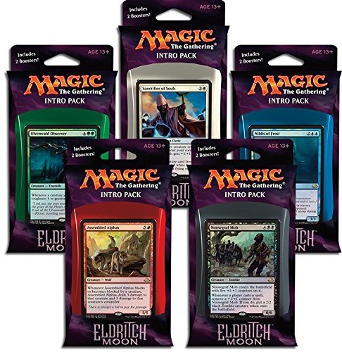 Magic the Gathering: MTG Eldritch Moon: Combo Intro Pack / Theme Deck (Set of All 5 Intro Packs / Decks including Alternate Art Promo Cards) by Magic: the Gathering