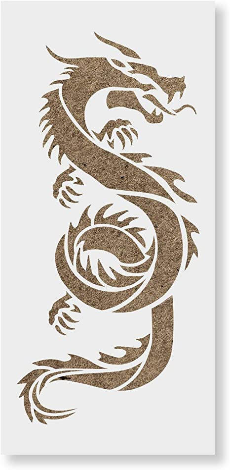 Amazon Com Chinese Dragon Stencil Reusable Stencils For Painting Mylar Stencil For Crafts And Decorations